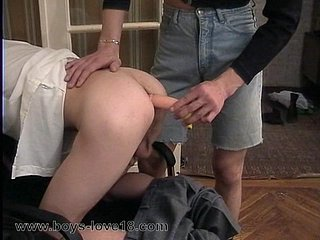 Sexy little ass gets spread by dildo